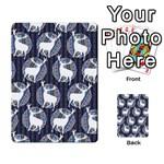 Geometric Deer Retro Pattern Multi-purpose Cards (Rectangle)  Frontback