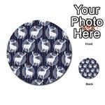 Geometric Deer Retro Pattern Multi-purpose Cards (Round)  Front 2