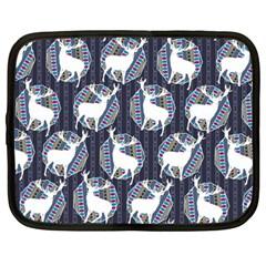 Geometric Deer Retro Pattern Netbook Case (Large)