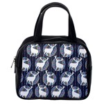 Geometric Deer Retro Pattern Classic Handbags (One Side)