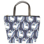 Geometric Deer Retro Pattern Bucket Bags