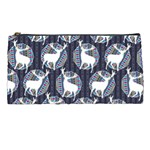 Geometric Deer Retro Pattern Pencil Cases