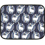 Geometric Deer Retro Pattern Double Sided Fleece Blanket (Mini)