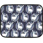 Geometric Deer Retro Pattern Double Sided Fleece Blanket (Mini)  35 x27 Blanket Back
