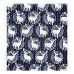 Geometric Deer Retro Pattern Shower Curtain 66  x 72  (Large)