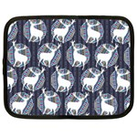 Geometric Deer Retro Pattern Netbook Case (XL)  Front