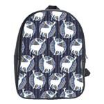 Geometric Deer Retro Pattern School Bags(Large)  Front