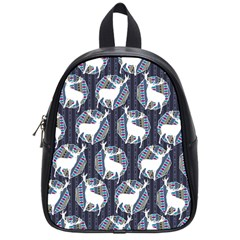 Geometric Deer Retro Pattern School Bags (small)  by DanaeStudio