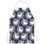 Geometric Deer Retro Pattern Full Print Aprons