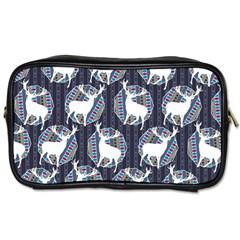 Geometric Deer Retro Pattern Toiletries Bags