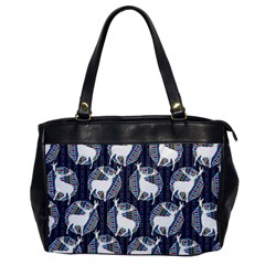 Geometric Deer Retro Pattern Office Handbags by DanaeStudio