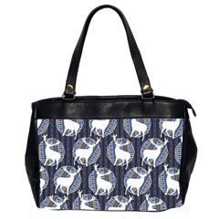 Geometric Deer Retro Pattern Office Handbags (2 Sides)  by DanaeStudio