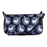 Geometric Deer Retro Pattern Shoulder Clutch Bags Front