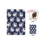 Geometric Deer Retro Pattern Playing Cards (Mini)  Back
