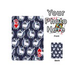 Geometric Deer Retro Pattern Playing Cards 54 (Mini)  Front - HeartQ