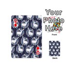 Geometric Deer Retro Pattern Playing Cards 54 (Mini)  Front - DiamondQ