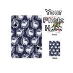 Geometric Deer Retro Pattern Playing Cards 54 (Mini)  Front - Spade7