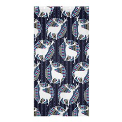 Geometric Deer Retro Pattern Shower Curtain 36  X 72  (stall)