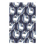 Geometric Deer Retro Pattern Shower Curtain 48  x 72  (Small)