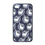 Geometric Deer Retro Pattern Apple iPhone 4 Case (Black)