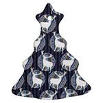 Geometric Deer Retro Pattern Ornament (Christmas Tree) Front