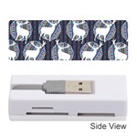 Geometric Deer Retro Pattern Memory Card Reader (Stick)