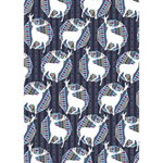 Geometric Deer Retro Pattern Heart Bottom 3D Greeting Card (7x5) Inside