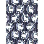 Geometric Deer Retro Pattern HOPE 3D Greeting Card (7x5) Inside