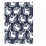 Geometric Deer Retro Pattern Small Garden Flag (Two Sides) Back