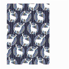 Geometric Deer Retro Pattern Large Garden Flag (two Sides) by DanaeStudio