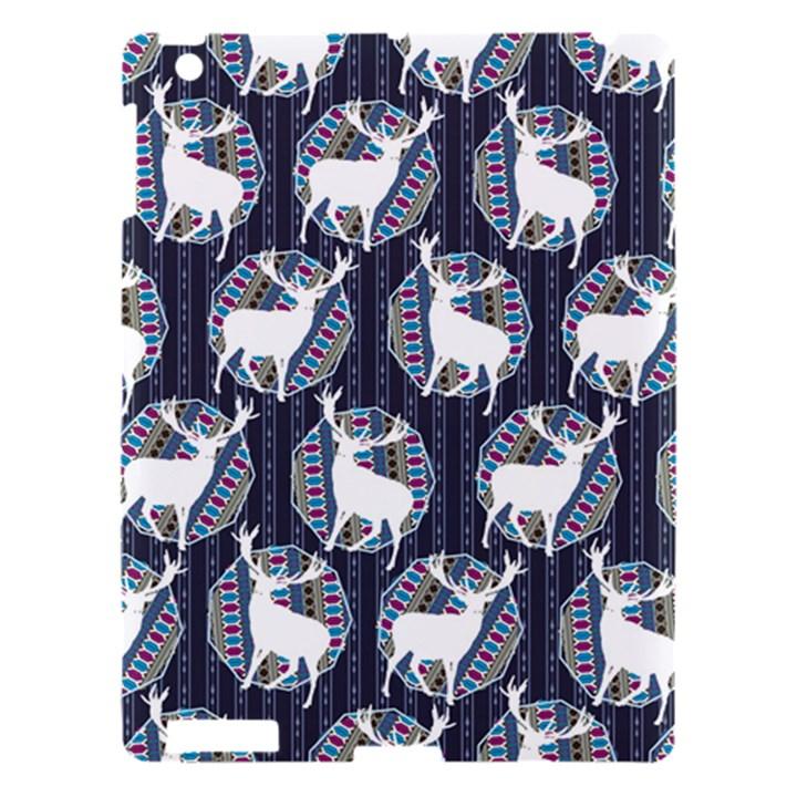 Geometric Deer Retro Pattern Apple iPad 3/4 Hardshell Case