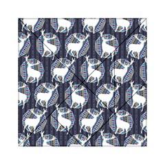 Geometric Deer Retro Pattern Acrylic Tangram Puzzle (6  x 6 )