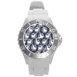 Geometric Deer Retro Pattern Round Plastic Sport Watch (L)