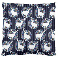Geometric Deer Retro Pattern Large Cushion Case (one Side) by DanaeStudio