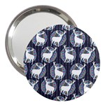 Geometric Deer Retro Pattern 3  Handbag Mirrors Front