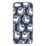 Geometric Deer Retro Pattern Apple iPhone 5 Case (Silver)