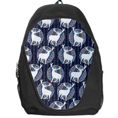 Geometric Deer Retro Pattern Backpack Bag by DanaeStudio