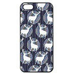 Geometric Deer Retro Pattern Apple iPhone 5 Seamless Case (Black)