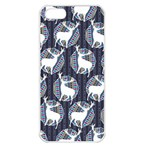 Geometric Deer Retro Pattern Apple iPhone 5 Seamless Case (White)