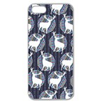 Geometric Deer Retro Pattern Apple Seamless iPhone 5 Case (Clear)