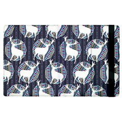 Geometric Deer Retro Pattern Apple Ipad 3/4 Flip Case