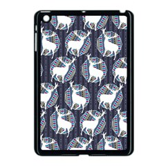 Geometric Deer Retro Pattern Apple Ipad Mini Case (black)