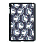 Geometric Deer Retro Pattern Apple iPad Mini Case (Black) Front