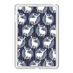 Geometric Deer Retro Pattern Apple iPad Mini Case (White) Front