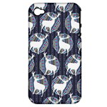 Geometric Deer Retro Pattern Apple iPhone 4/4S Hardshell Case (PC+Silicone)