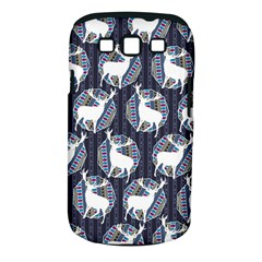 Geometric Deer Retro Pattern Samsung Galaxy S Iii Classic Hardshell Case (pc+silicone) by DanaeStudio