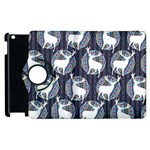 Geometric Deer Retro Pattern Apple iPad 2 Flip 360 Case