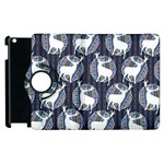 Geometric Deer Retro Pattern Apple iPad 3/4 Flip 360 Case