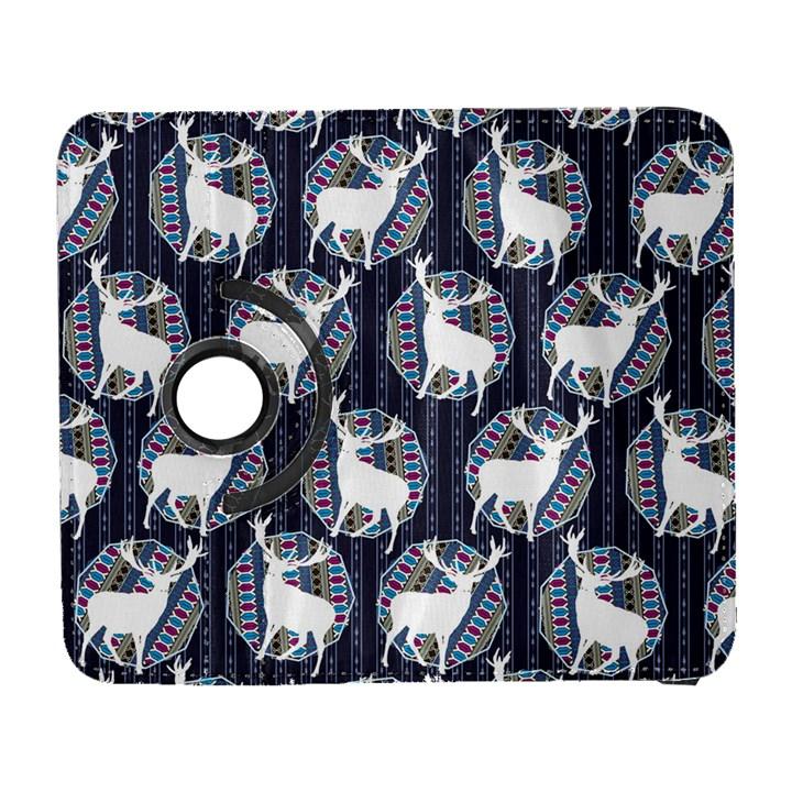 Geometric Deer Retro Pattern Samsung Galaxy S  III Flip 360 Case