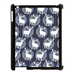 Geometric Deer Retro Pattern Apple iPad 3/4 Case (Black)